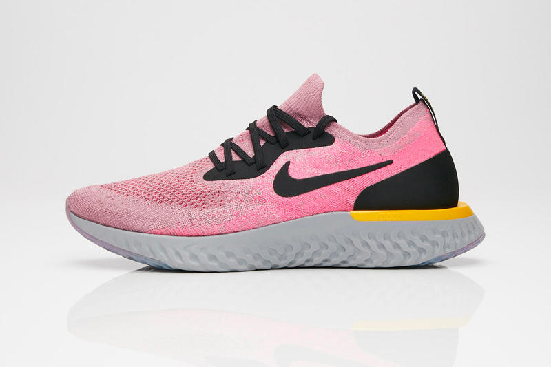 70927f629494 Nike Epic React Plum Dust Release Plum Dust Black Pink Blast Ama Grey Yellow