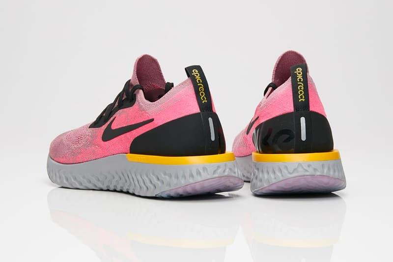 Nike Epic React Plum Dust Release Plum Dust Black Pink Blast Ama Grey Yellow