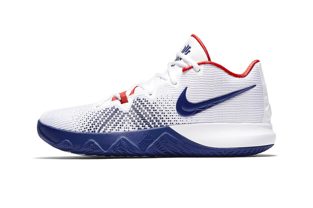 kyrie irving shoes red white and blue