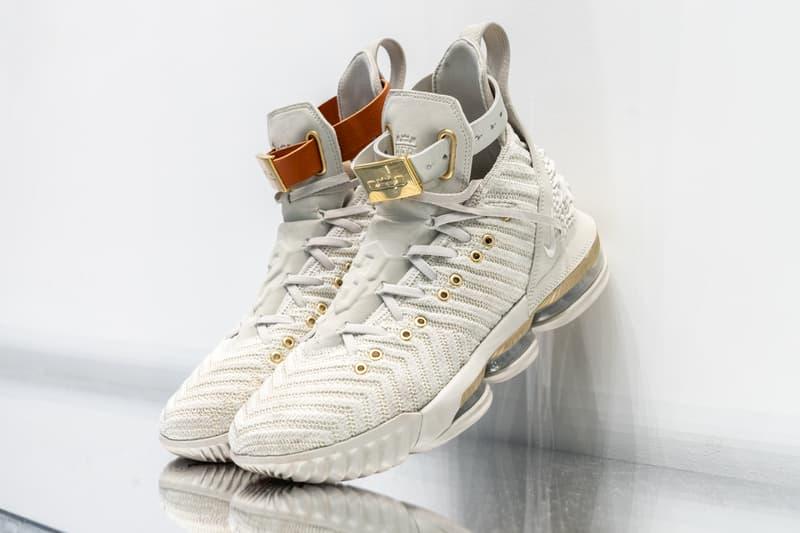timeless design bd3ba 02210 Nike LeBron 16 lebron james white gold