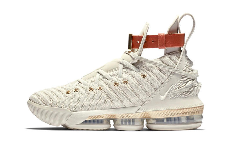 buy online 0cdb5 38155 Nike LeBron 16 LMTD HFR Release Vanchetta Tan Harlems Fashion Row James  official Look Cream
