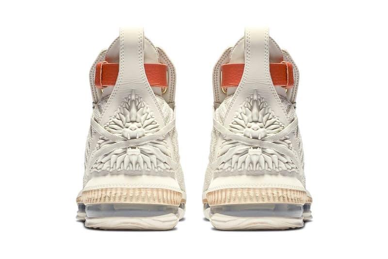 Nike LeBron 16 LMTD HFR Release Vanchetta Tan Harlems Fashion Row James official Look Cream