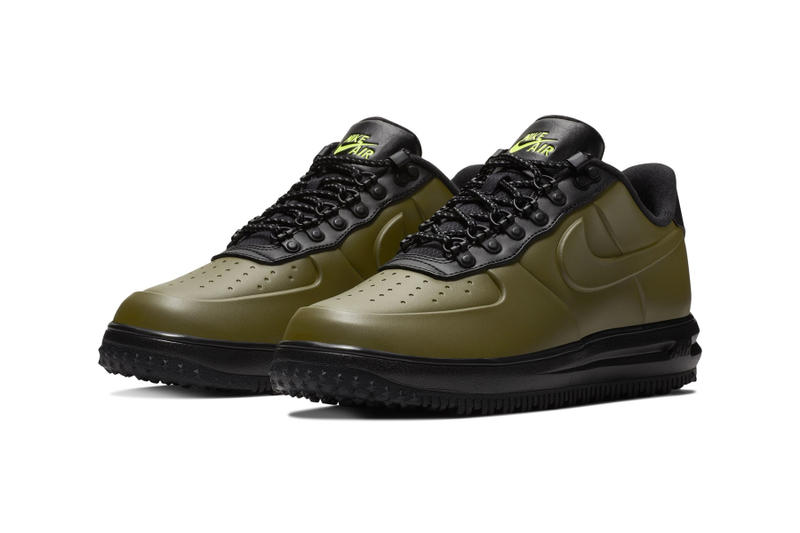 f67e57c19434 Nike Lunar Force 1 Duckboot Low olive release colorway sneaker hiking price