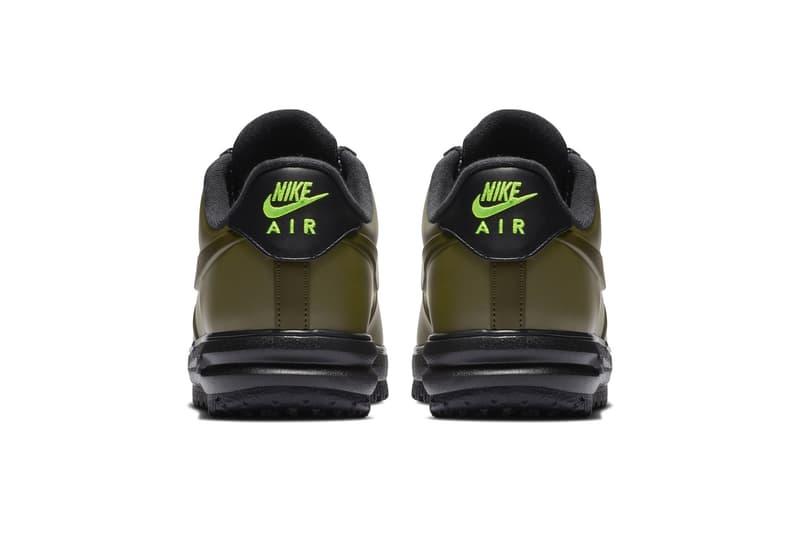 Nike Lunar Force 1 Duckboot Low olive release colorway sneaker hiking price