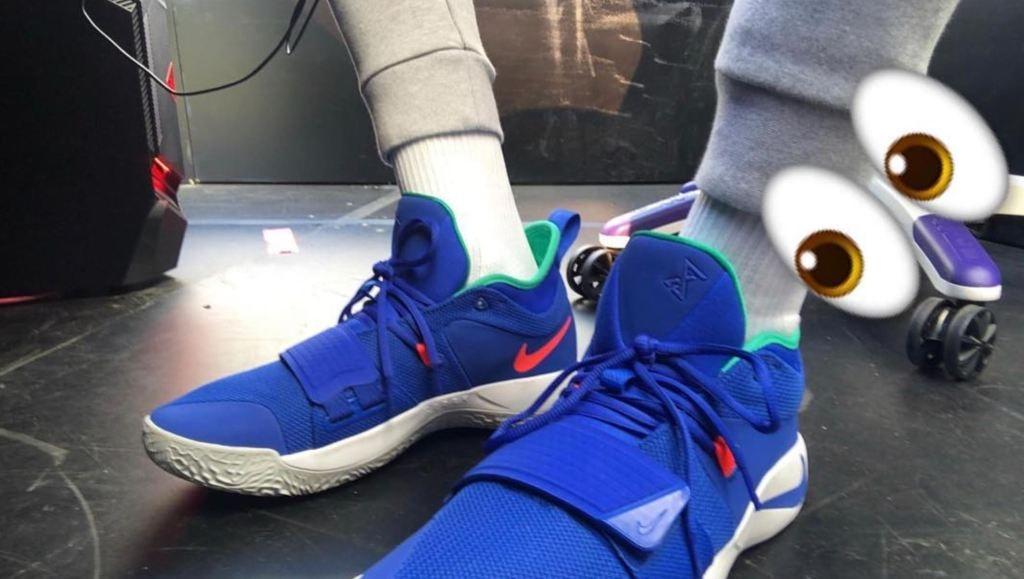 newest 9f77f fd730 Nike PG 2.5 Sneaker Fortnite Blue Colorway