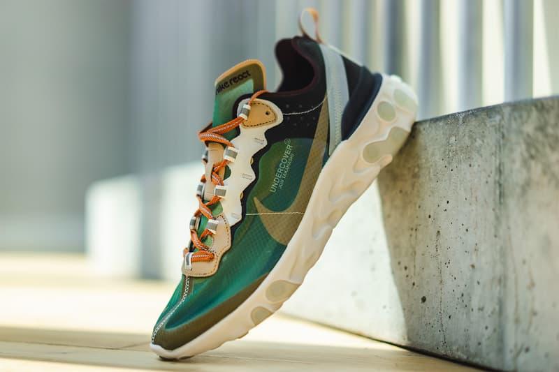 undercover nike react element 87 nike sportswear footwear nikelab 2018 jun takahashi
