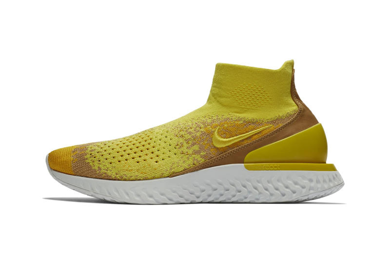 "Nike Rise React Flyknit ""Sonic Yellow"" Release date sneaker sock colorway price purchase ""SONIC YELLOW/DARK STUCCO-AMARILLO"""