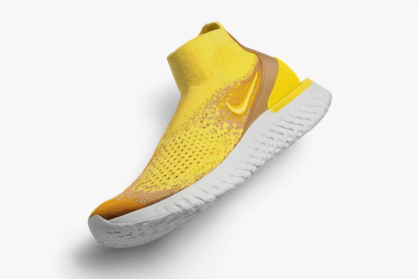 Nike Debuts Yellow Rise React Flyknit