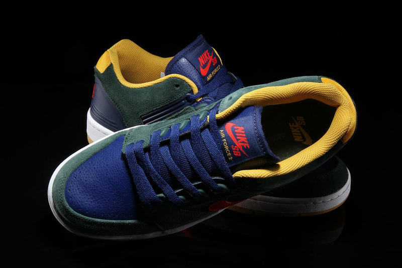 nike sb air force 2 low rugby release footwear shoes sneakers skateboarding polo style