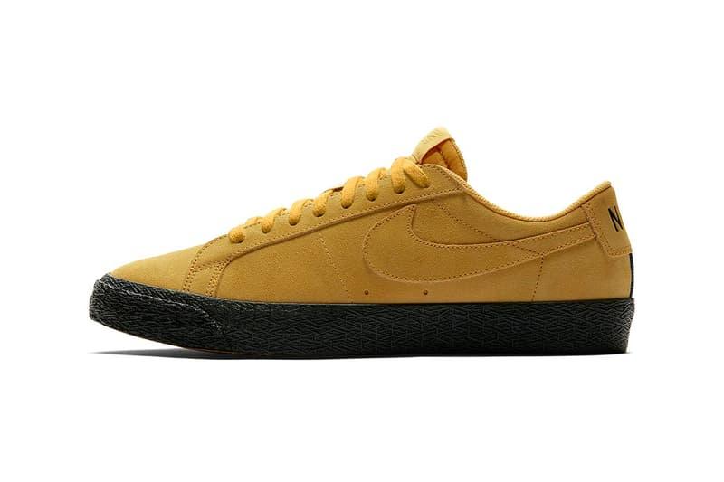 nike sb blazer low yellow ochre release