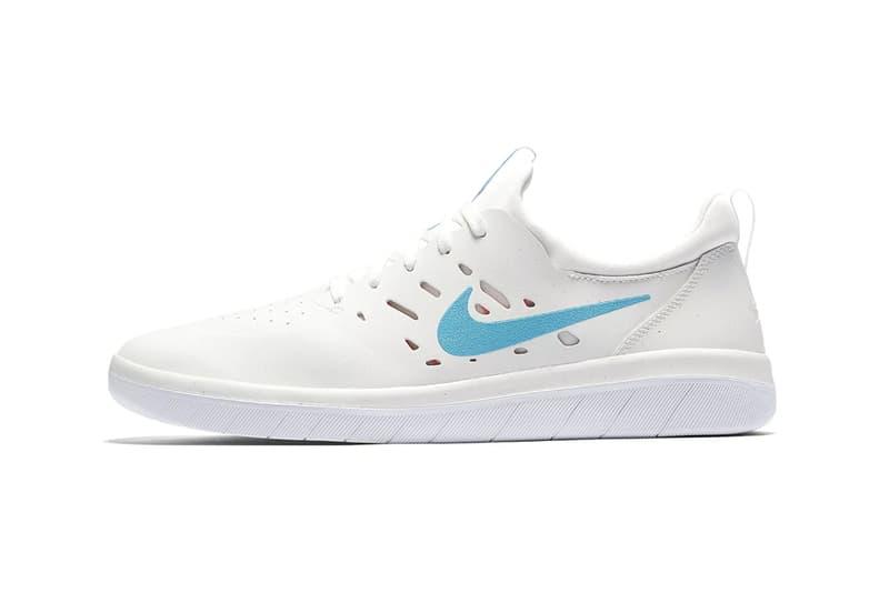 ece363396fe73b Nyjah Huston Nike SB Nyjah Free Receives a Clean Blue Fury Colorway White