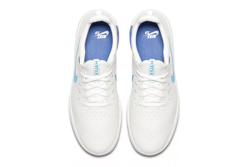 Nyjah Huston Nike SB Nyjah Free Receives a Clean Blue Fury Colorway White