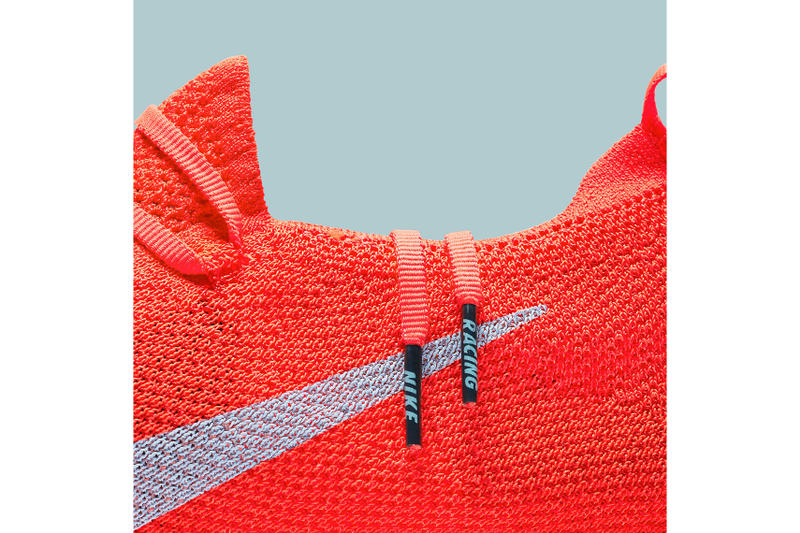 Nike Vaporfly 4% Flyknit Detailed Look Bright Crimson Ice Blue White