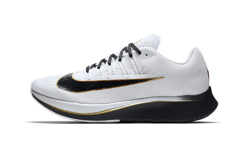 e716b2ff00a9 Nike Zoom Fly Mismatched Color white black metallic gold release info  sneakers