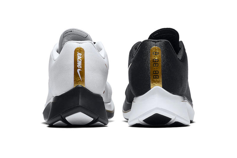 Nike Zoom Fly Mismatched Color white black metallic gold release info sneakers