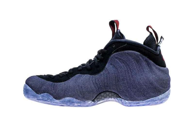 55cce2b8478 Nike Air Foamposite One Denim Release Date Obsidian Black University Red  sneaker colorway