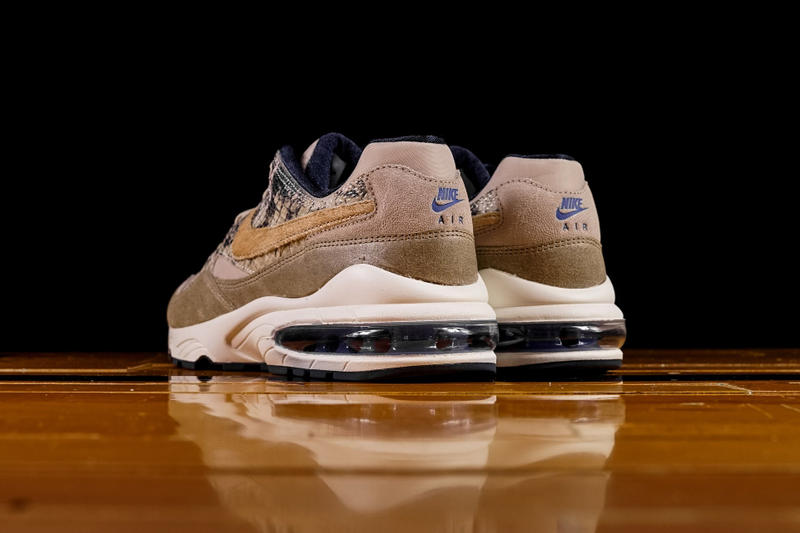 "Nike Air Max 94 ""Beige Snakeskin"" Release sneaker colorway exotic material newsprint"