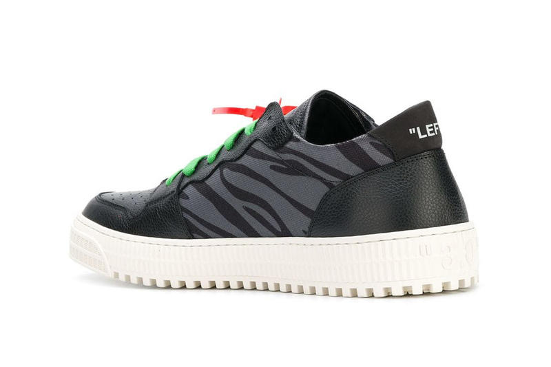 Off-White™ Low Top Sneaker in Green/Animal Print