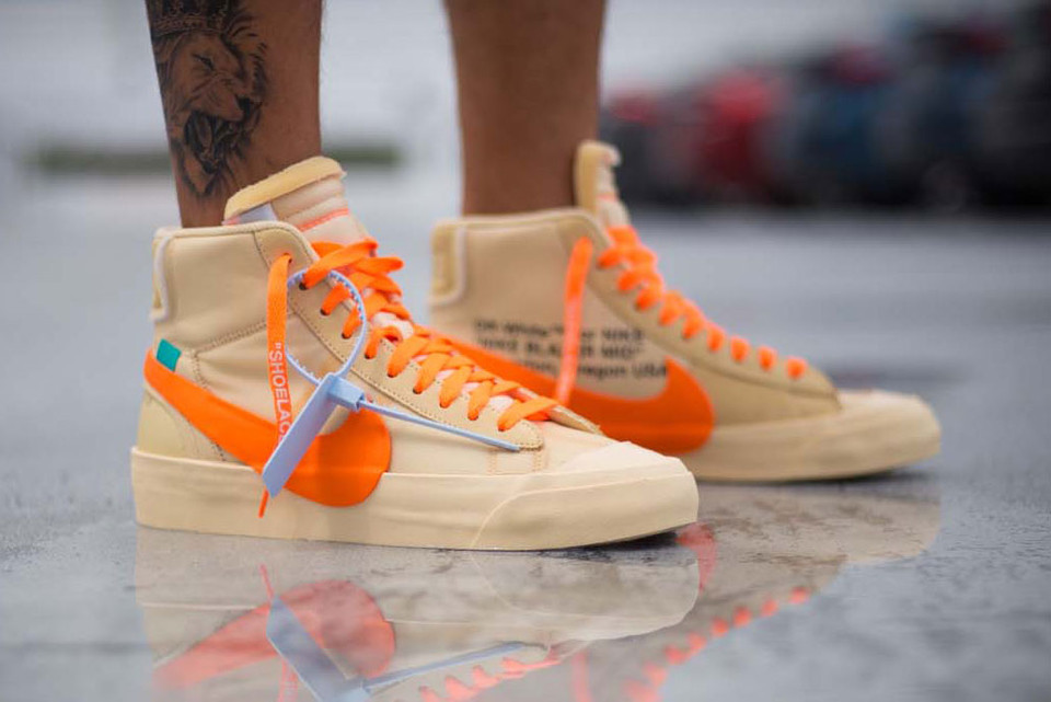 info for 9d6c3 17ae9 An On-Foot Look at the Off-White™ x Nike Blazer