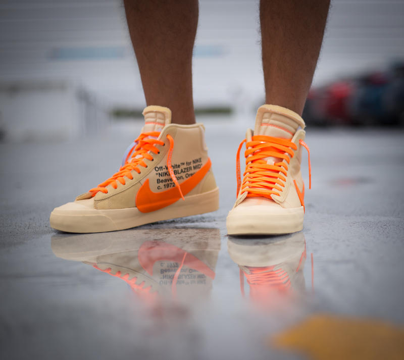 Off White X Nike Blazer All Hallow S Eve On Foot Hypebeast