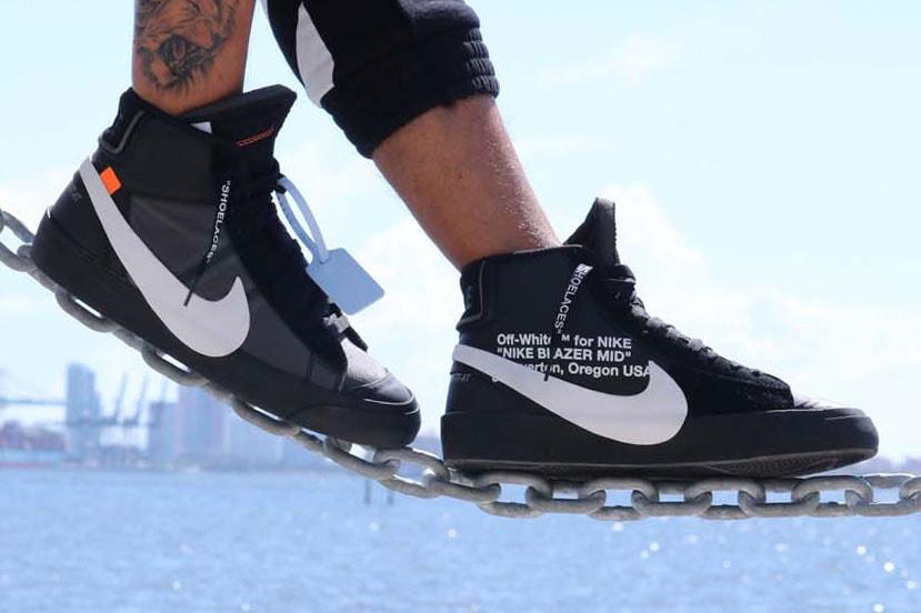d1172844f84 Off-White™ x Nike Blazer Grim Reaper On-Feet