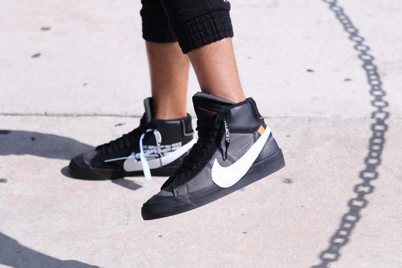 Off-White™ x Nike Blazer Spooky Pack Black On Feet Virgil Abloh Grim Reaper All Hallows Eve Orange First Look Closer Release Information Details