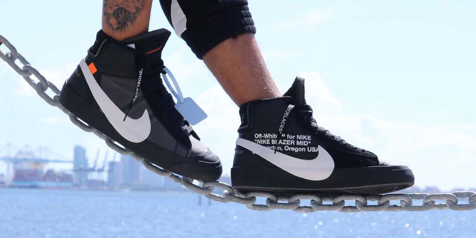 Dominante Itaca adolescentes  Off-White™ x Nike Blazer Grim Reaper On-Feet | HYPEBEAST