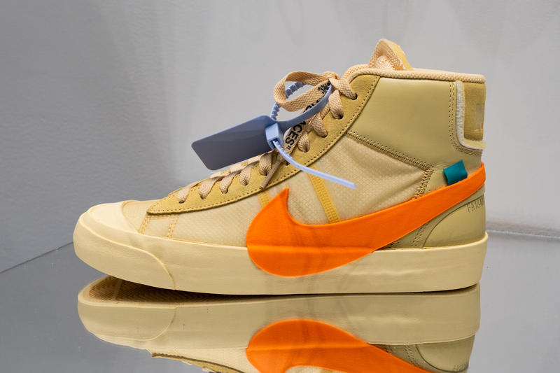 9a07ad200f2a Off-White Nike Blazer Spooky Pack Closer Look blazer orange black  collaboration release drop date