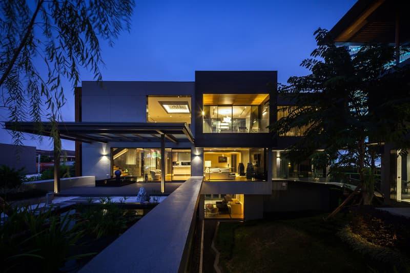 OKS CASA Thailand saARCHOFFICE Architects Khwaeng Bang Wa 2017 design interior house home luxury ferrari supercar collector Spaceshift Studio