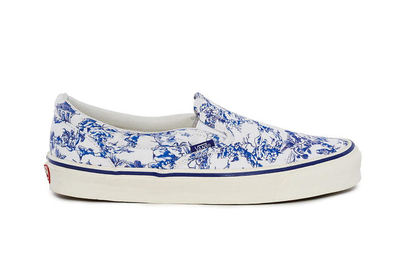 opening ceremony vans toile pack Chinoiserie chinese porcelain pattern texture august 17 drop release date closer look official image lookbook