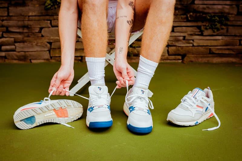 packer shoes diadora 2018 footwear august cream orange blue Rebound Ace N.9002
