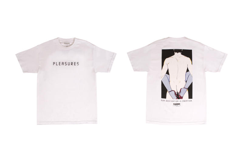 Patrick Nagel PLEASURES Capsule Collection Arrested Salon Destination Blindfold Short Long Sleeve T Shirt Hoodie Crewneck Alex James