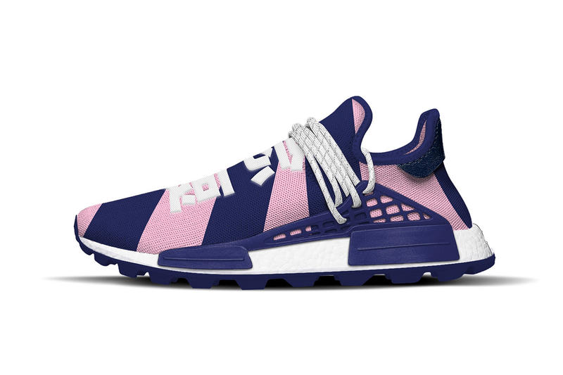 Pharrell williams adidas originals NMD Hu Billionaire Boys Club Exclusive BBC Pink Blue HEART MIND
