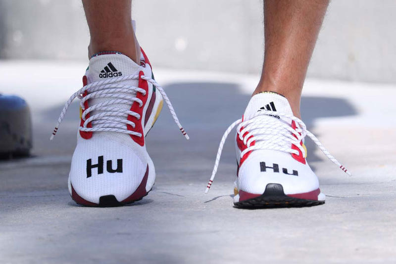 159210ab7 Pharrell Williams adidas Solar Hu Glide ST White red black stripe hu  collaboration exclusive drop release