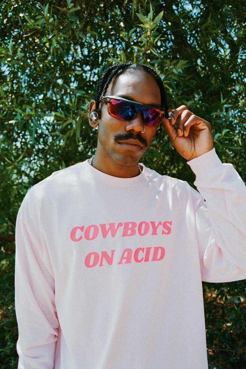 PLEASURES Fall Winter 2018 Collection Lookbook Cowboys on Acid t-shirts sweaters jackets pants