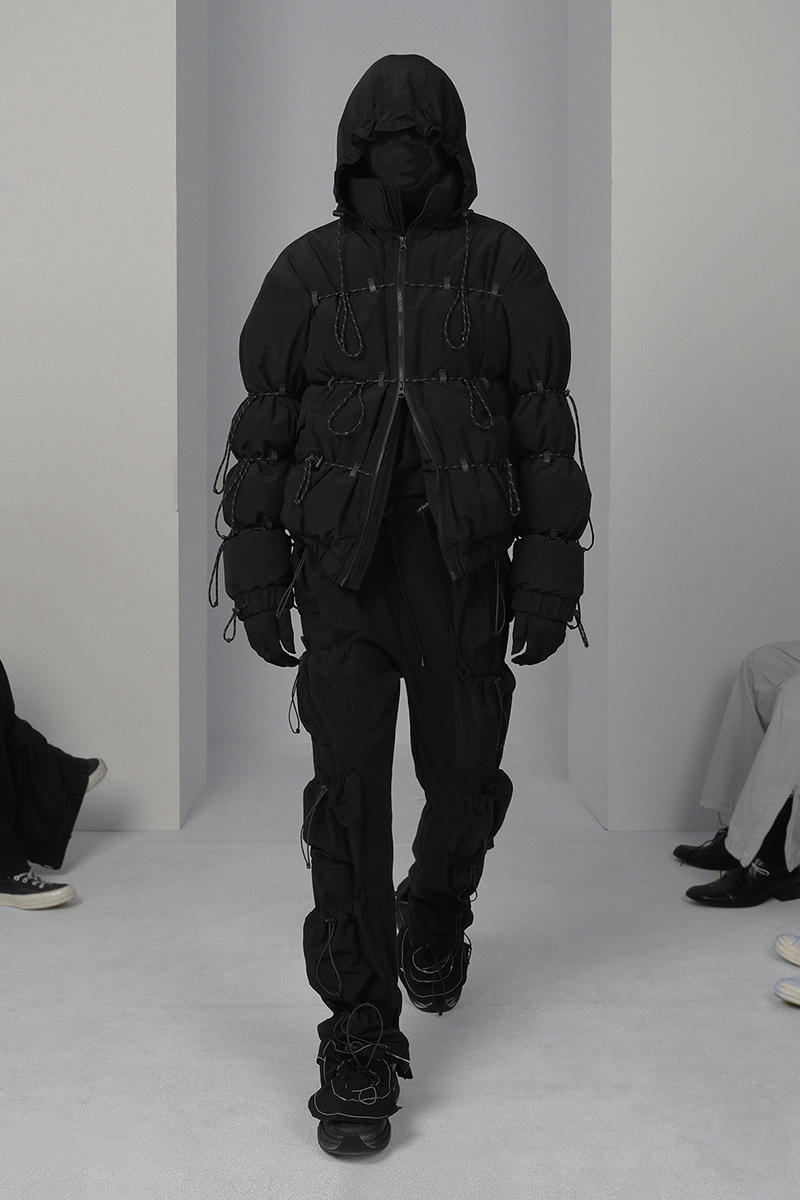 POST ARCHIVE FACTION Fall Winter 2018 Collection Lookbook Korean Fashion Streetwear Puffer Jacket Track Pants RSST