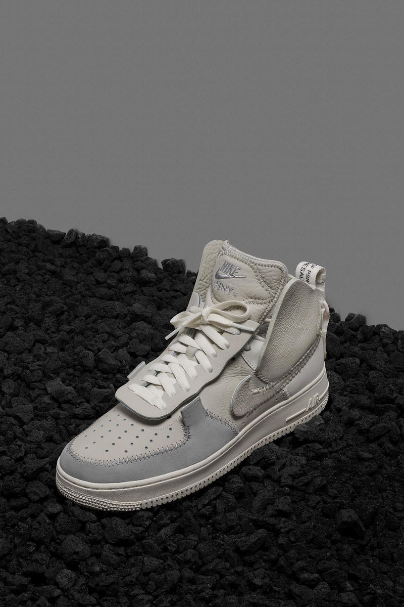 PSNY x Nike Air Force 1 Fall/Winter Preview High Top White Black Grey Deconstructed