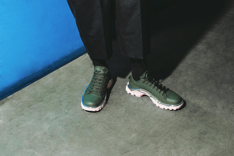 buy online 4d0b1 88e9a Raf Simons Detroit Runners FW18 On-Feet for HBX