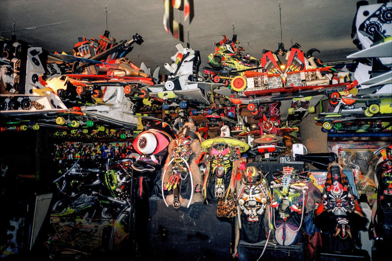 rammellzee roll of dice exhibition sothebys steve lazarides artworks auction shows paintings sculptures garbage gods