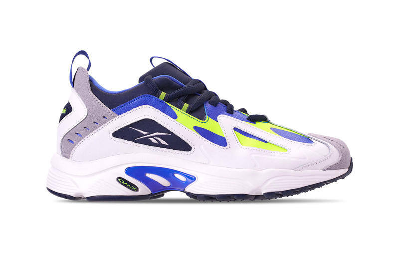1a0205c8e2c4 Reebok DMX 1200 Low Black White White Navy Green Runner Retro 90s