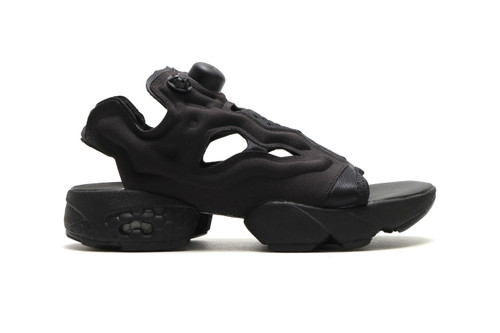 Reebok Unveils a Slick All-Black InstaPump Fury Sandal