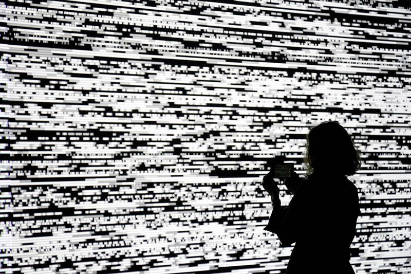 ryoji ikeda continuum centre pompidou paris exhibition