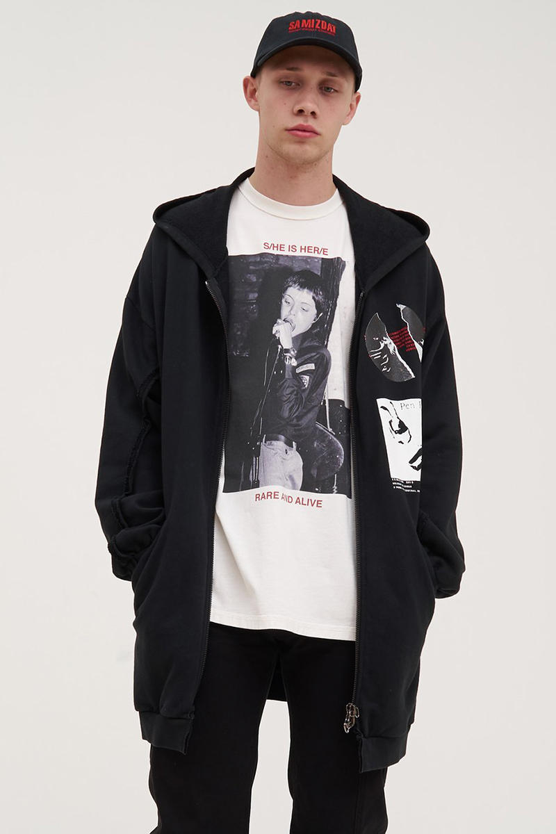 SAMIZDAT by Yang Li Fall Winter 2018 Collection Ma 1 Bomber Jacket Hoodie Long Short Sleeve T shirt Cap Hat Tote Reference Sonic discipline