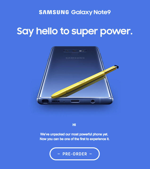 Samsung Galaxy Note 9 Official Teaser Surfaces Pre-Order