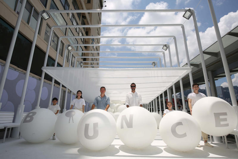 snarkitecture bounce installation hong kong harbour city daniel arsham