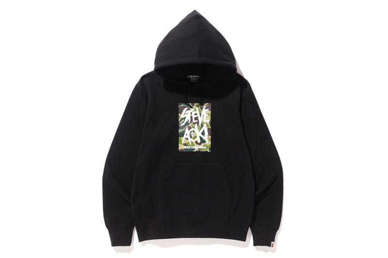 9bc2c1837bc9 Steve Aoki BAPE Capsule Collection Green Camo DJ collaboration hoodie tee  shirt graphic ape head grey