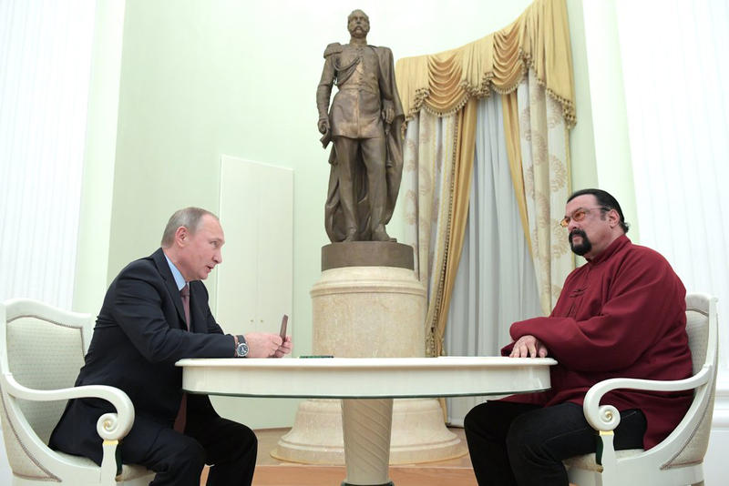 Vladimir V Putin Steven Seagal Russia US America United States Russia Special Envoy Foreign Ministry