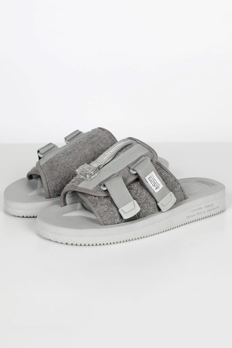 Suicoke x Concrete Objects Sandal Collab Details Samuel Ross Shoes Trainers Sneakers Footwear Kicks Steel Resin Nylon Suede Leather
