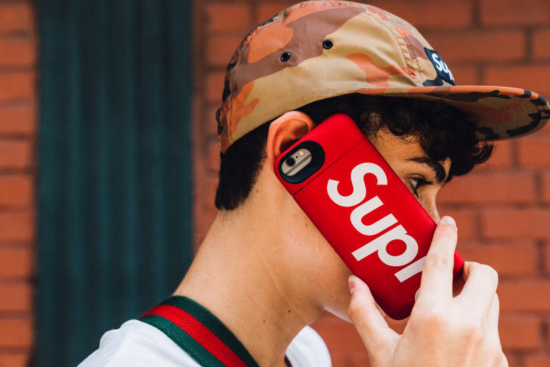 supreme fall winter 2018 drop day phone case five panel cap