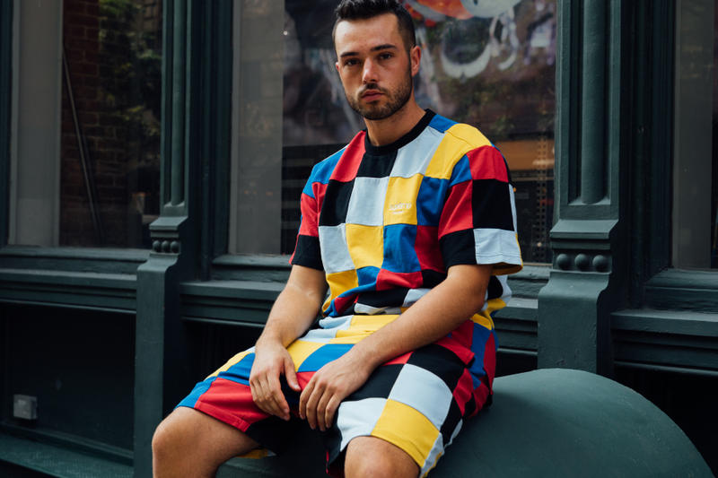 supreme fall winter 2018 drop day multicolor patchwork rainbow sweat shorts tee shirt